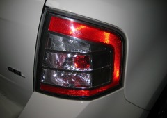 Damaged car light