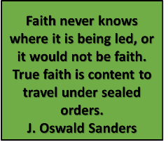 A quote from J Oswald Sanders