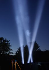 Searchlights in the sky