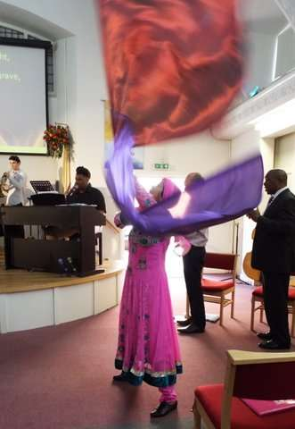 Dancing in worship